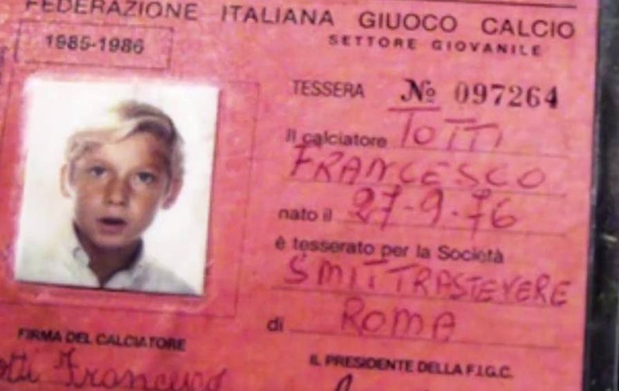 Totti as child