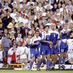 Beckham free-kick against greece 2001