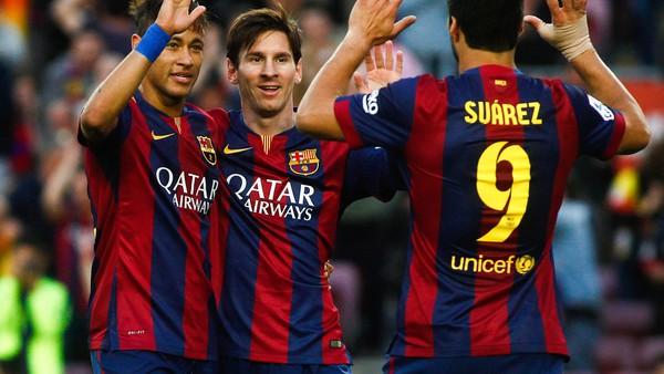 122 — Lionel Messi, Neymar, Luis Suarez (2014/15)