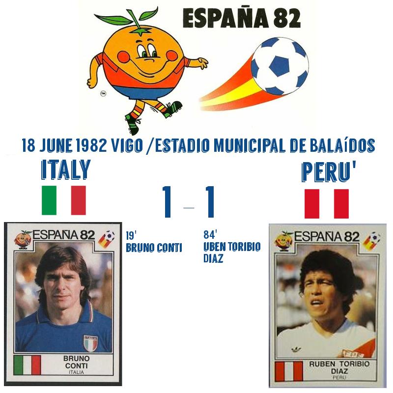 Italy Peru' 1982 1-1