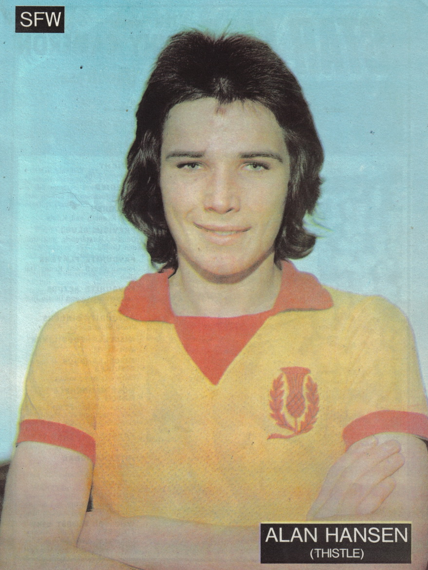Alan Hansen playing with Partick Thistle FC