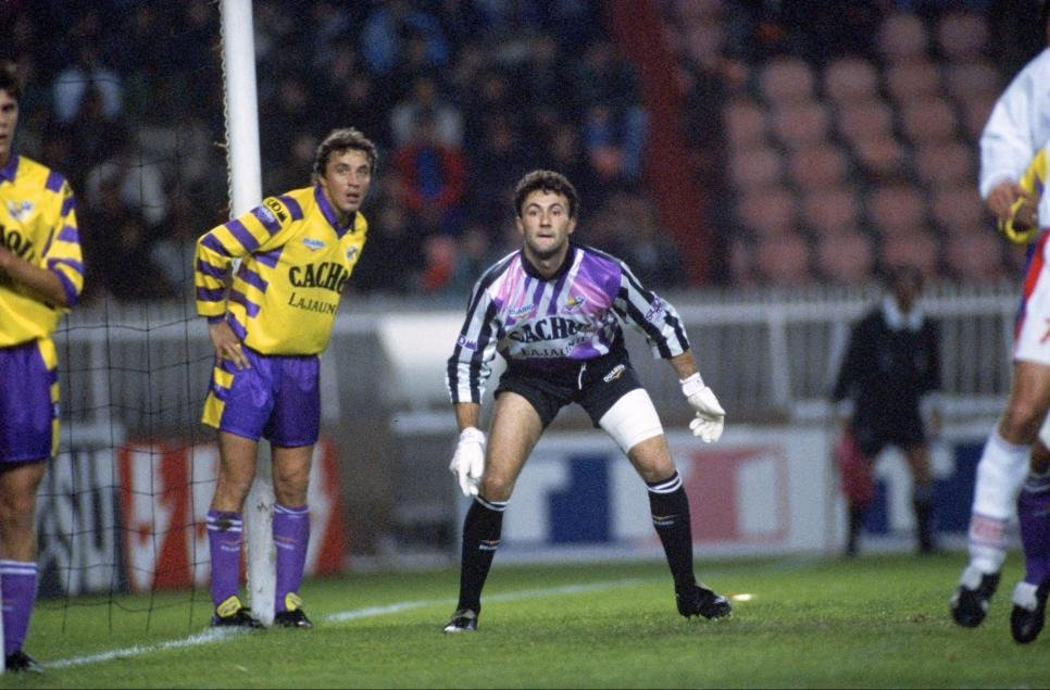 Barthez playing with Toulose 1990-1992