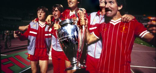 Hansen winning the Champions League with Liverpool in 1984