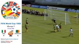 italy v cameroon 1-1 Spain 1982