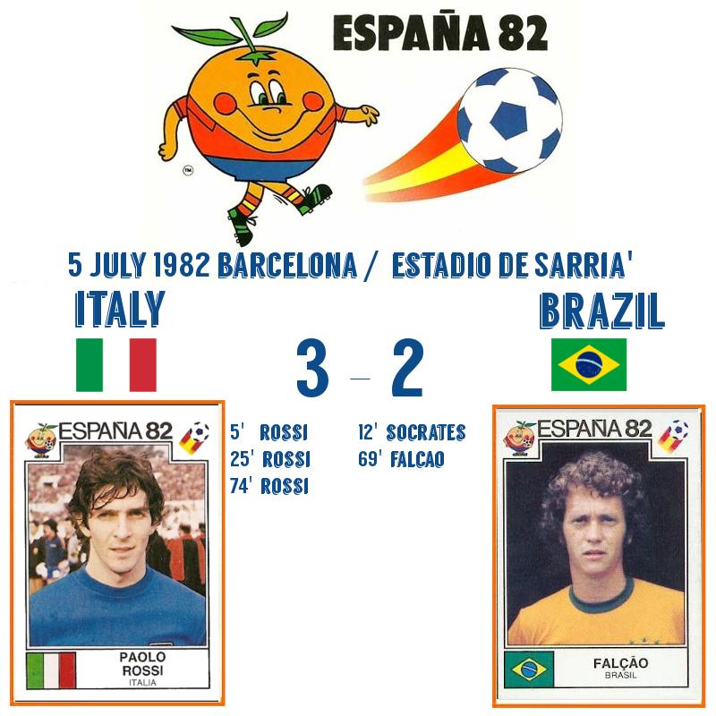 Italy v Brazil 1982 3-2