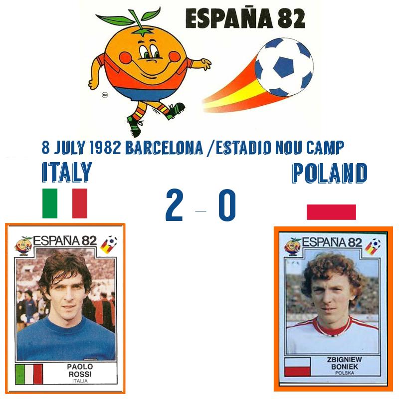 Italy v Poland 1982 2-0