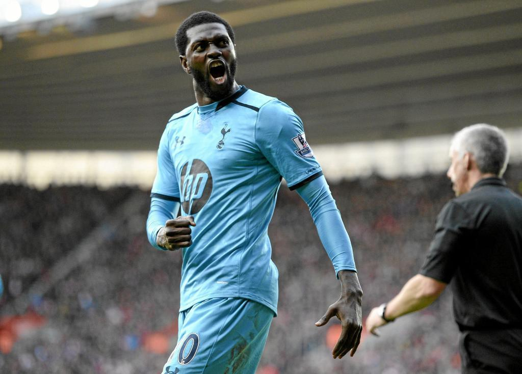 Adebayor with Tottenham