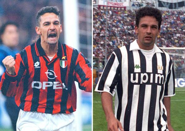 Baggio with AC Milan and Juventus