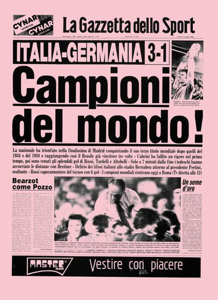 Gazzetta newspaper celebrate Italy's World Cup Victory