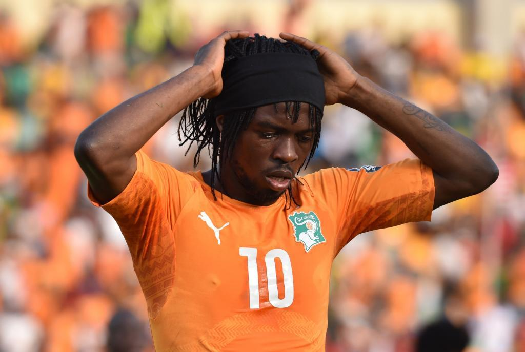 Gervinho with Ivory Coast