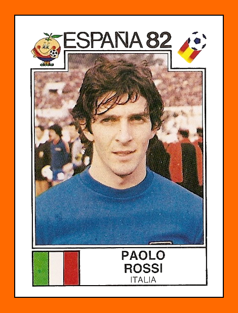 Paolo ROSSI Panini Italy 1982