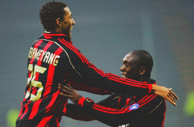 Aubameyang playing for AC Milan