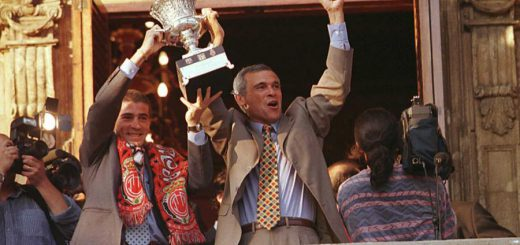 Hector Cuper with Supercopa won with Mallorca