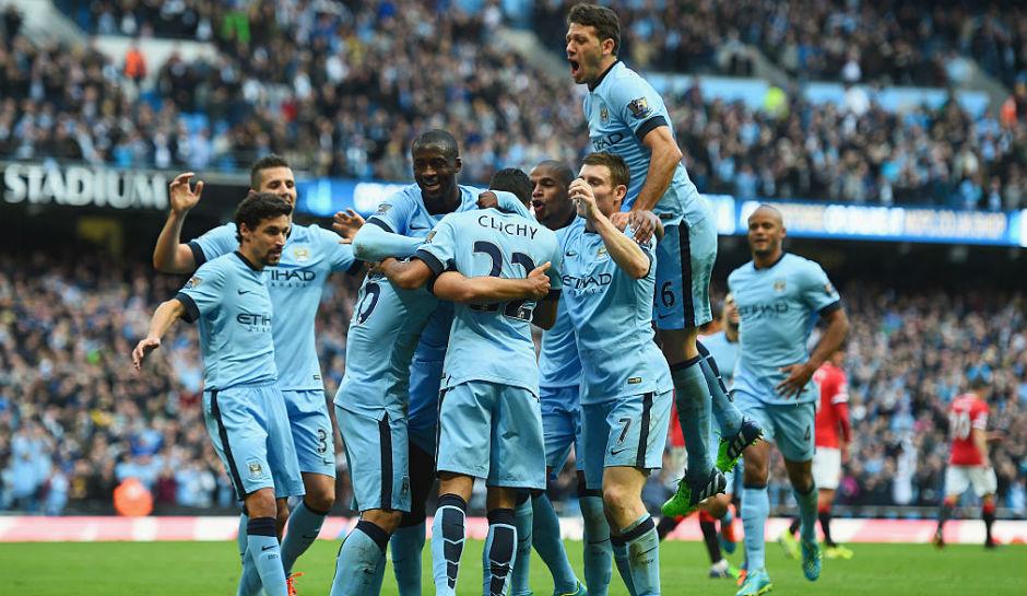 Manchester City 2016-2017 celebration
