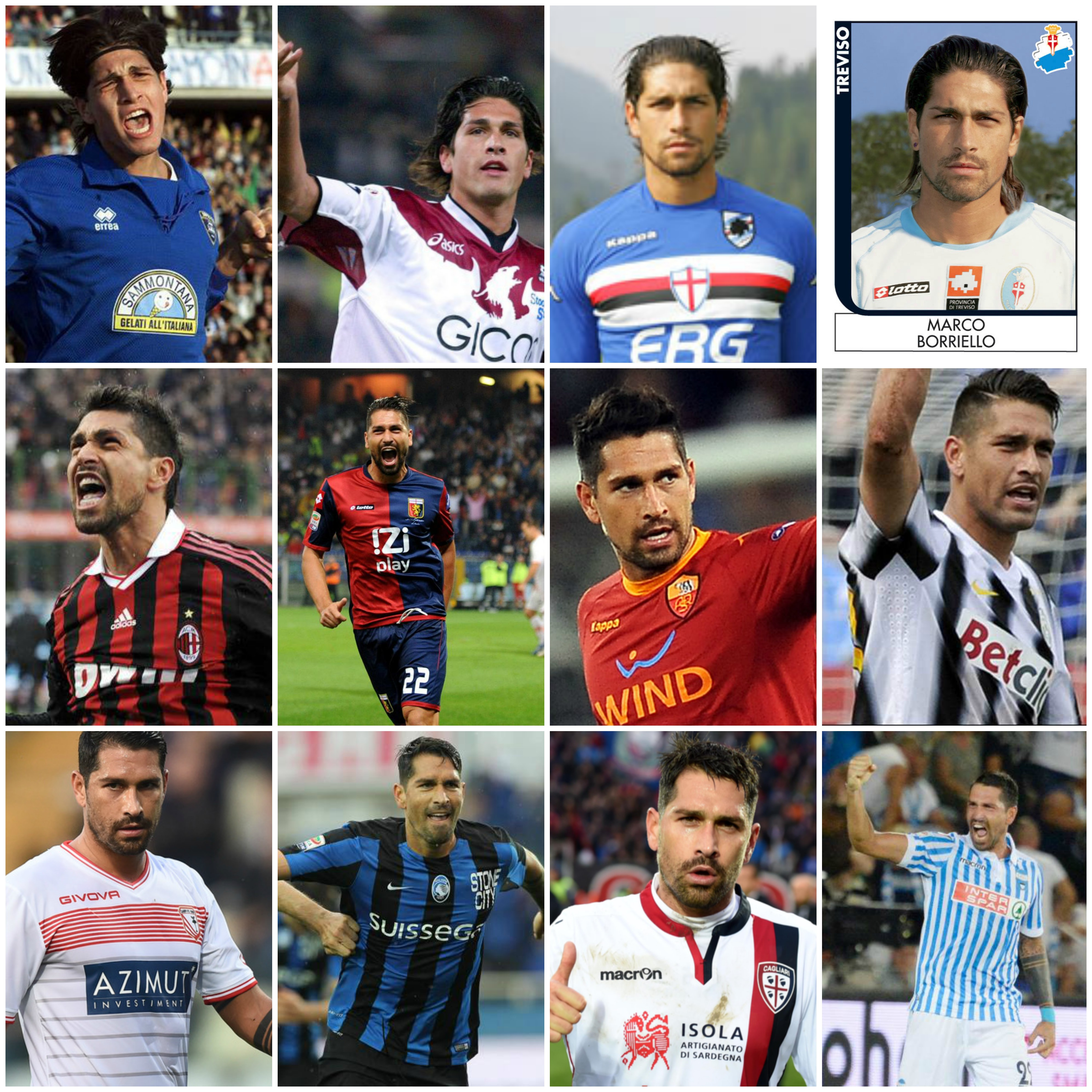 Borriello recordman scored with 12 different teams in Serie A