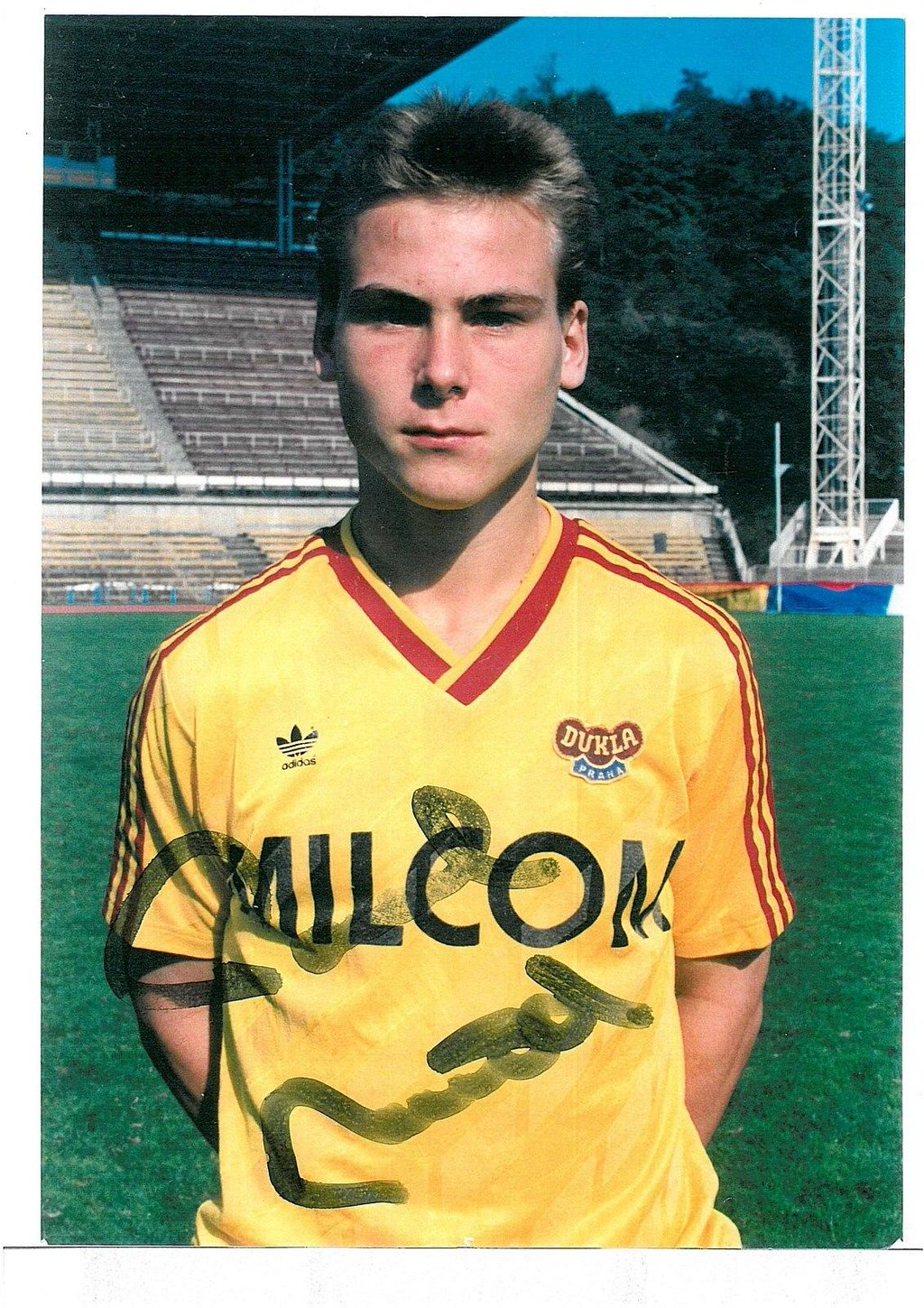 Pavel Nedved with Dukla Prague