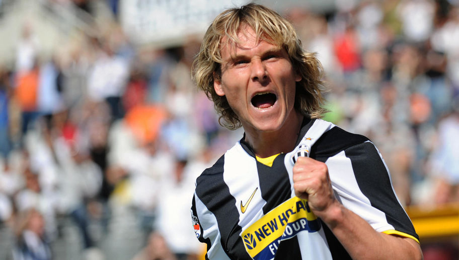 Pavel Nedved celebrating with Juventus
