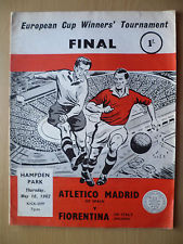Atletico Madrid v Fiorentina Cup Winners' Cup 1962