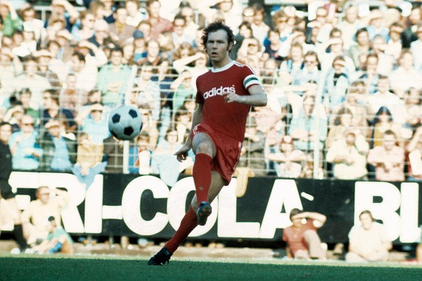Franz Beckenbauer Playing with Bayern Munich