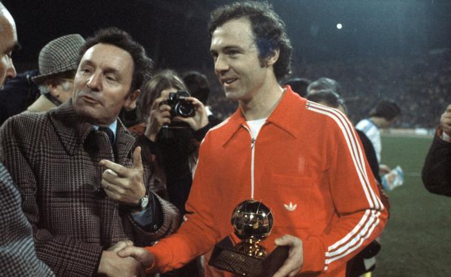 Franz Beckenbauer with the Ballon D'Or