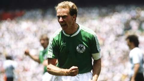 Karl-Heinz Rummenigge playing with Germany