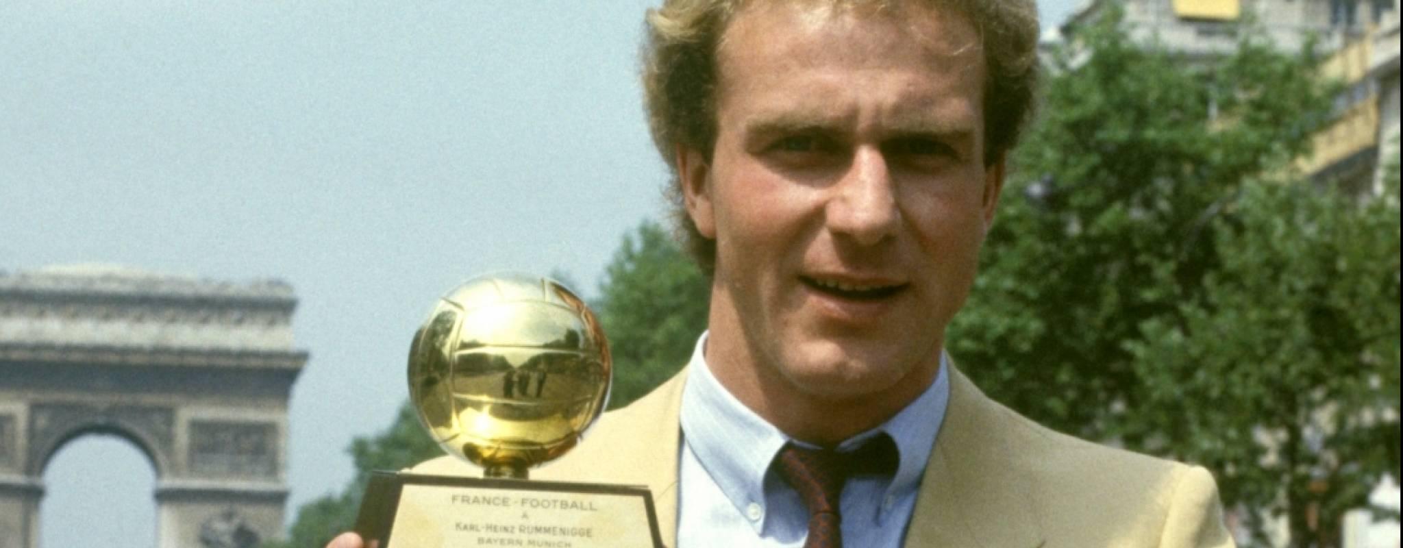 Rummenigge won two Ballon d'Or