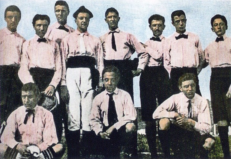 Juventus date of foundation is unknown, in autumn 1897 by pupils from the Massimo D'Azeglio Lyceum school in Turin.