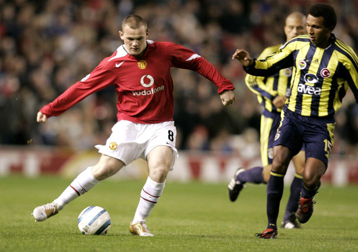 Wayne Rooney Man Utd debut Champions League Fenerbahce