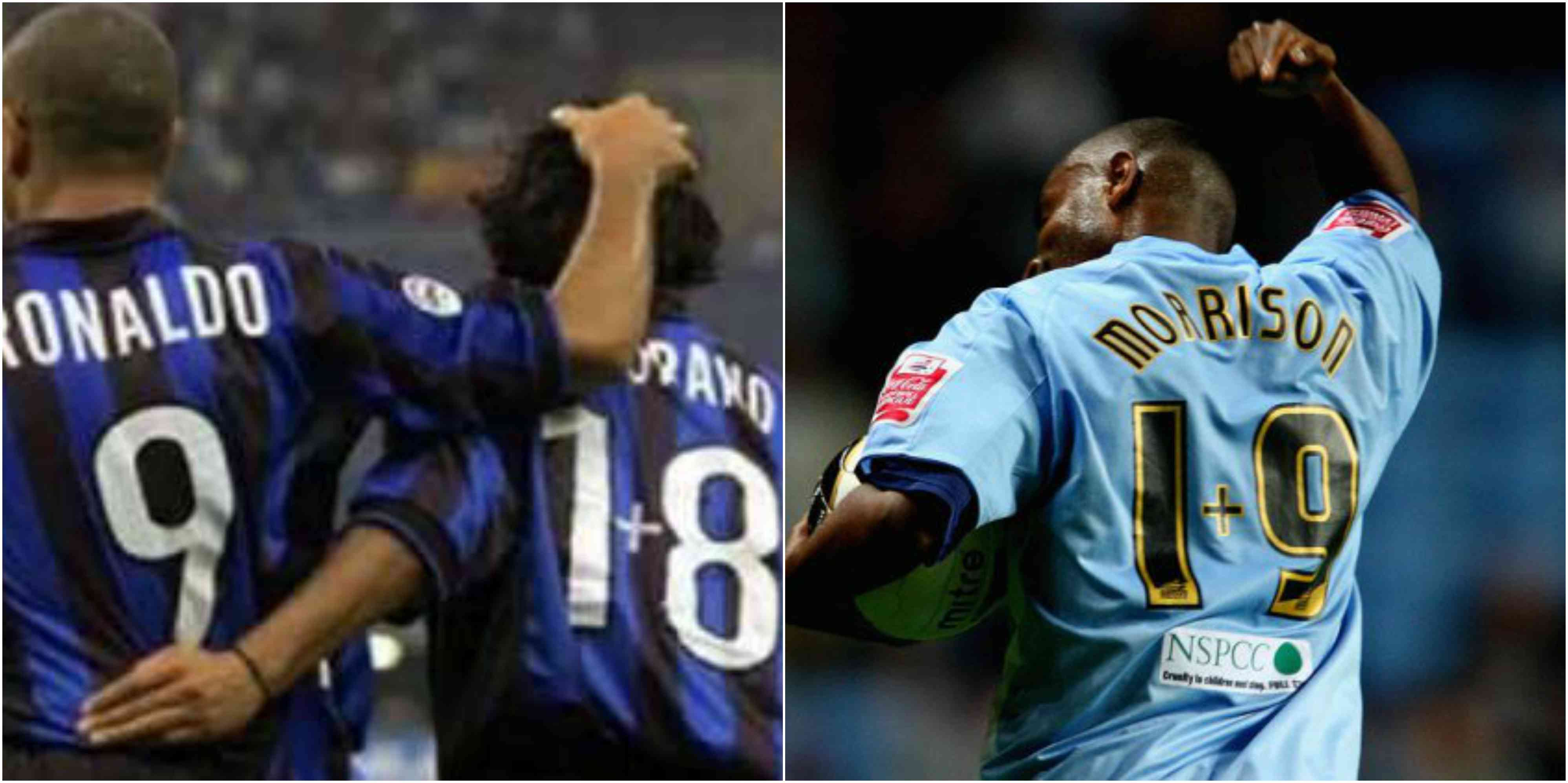 Zamorano wearing 1+8 and Morrison wearing 1+9