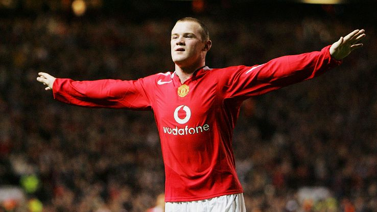 Rooney debut with Manchester United