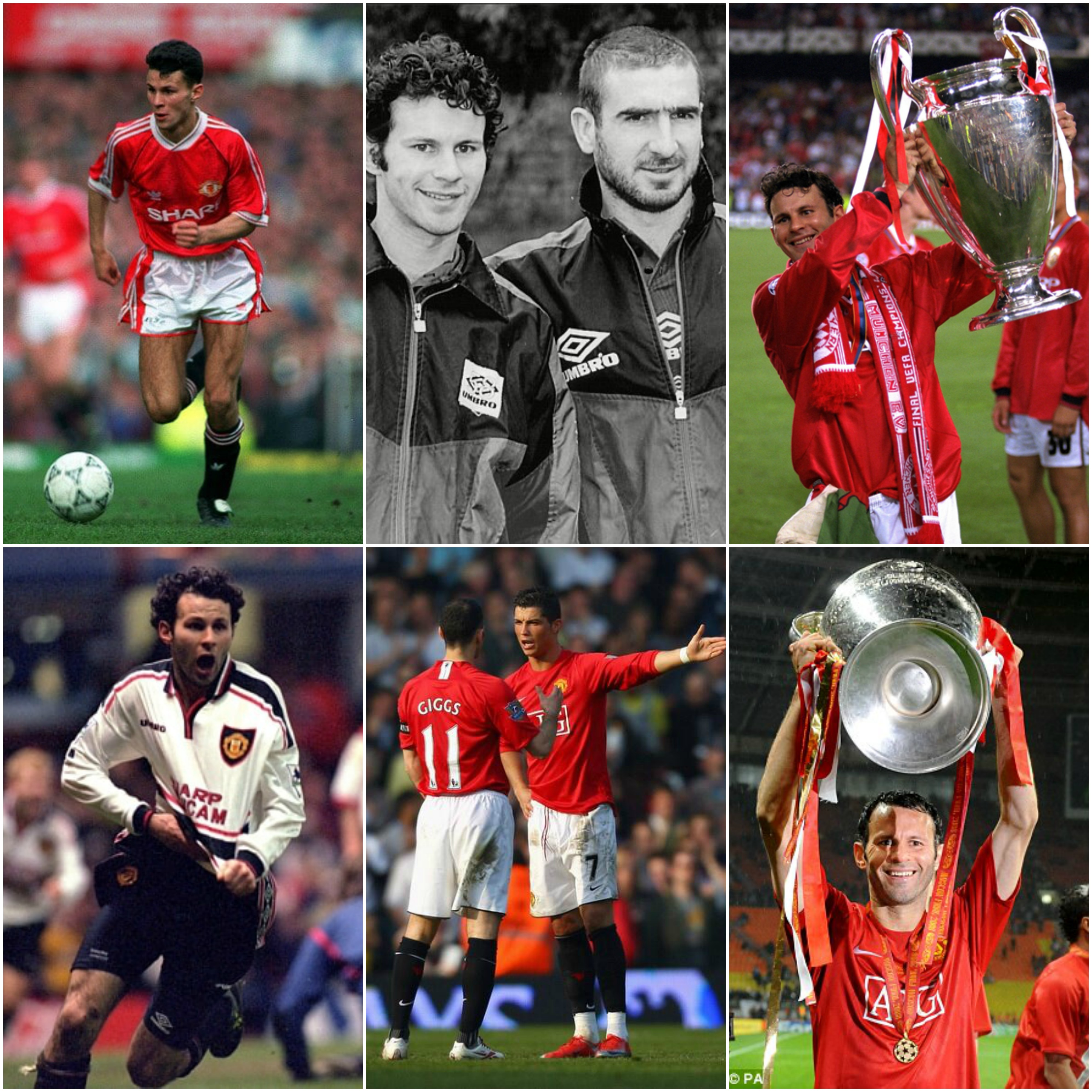 Ryan Giggs, a legend of Manchester United. More than Best, Cantona and Bobby Charlton