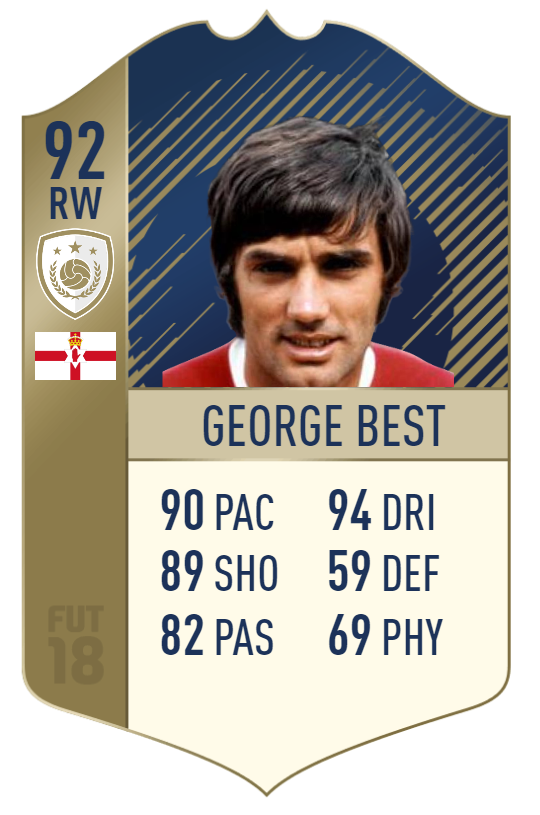 George Best FIFA 18 FUT Icon