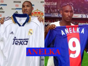 Anelka played with Real Madrid and PSG