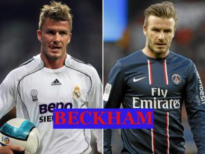 Beckham played with Real Madrid and PSG