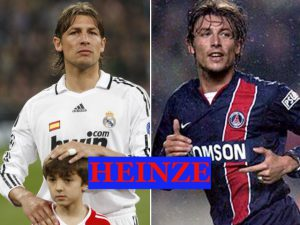 Heinze played with Real Madrid and PSG