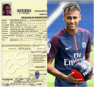 Neymar played with Real Madrid and PSG