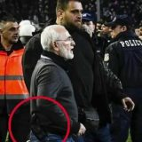 PAOK President invade pitch carrying gun after a disallowed goal! [VIDEO]