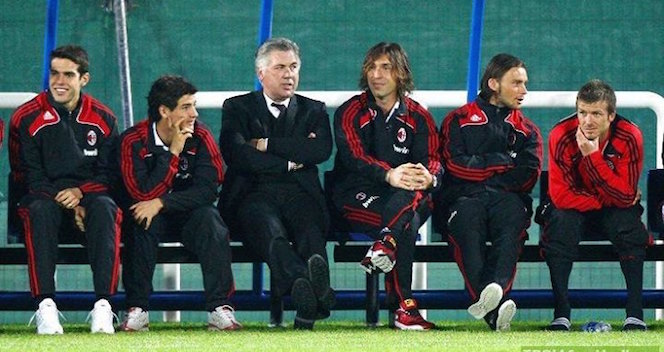 AC Milan Serie A Bench in 2010