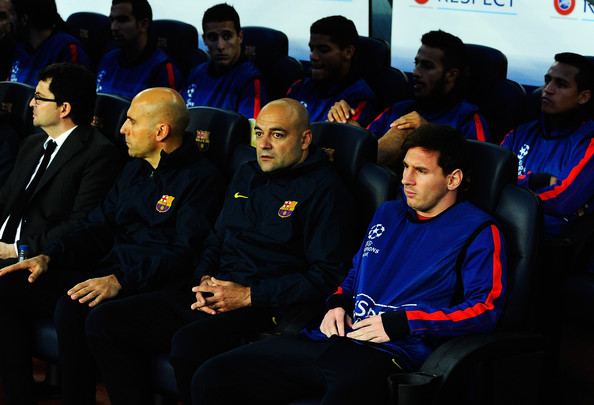 Barcelona v Bayern Munich Champions League 2013 Bench