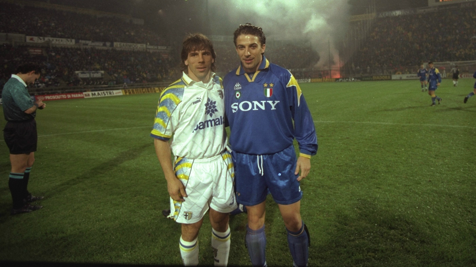 Zola and Del Piero, Parma v Juventus